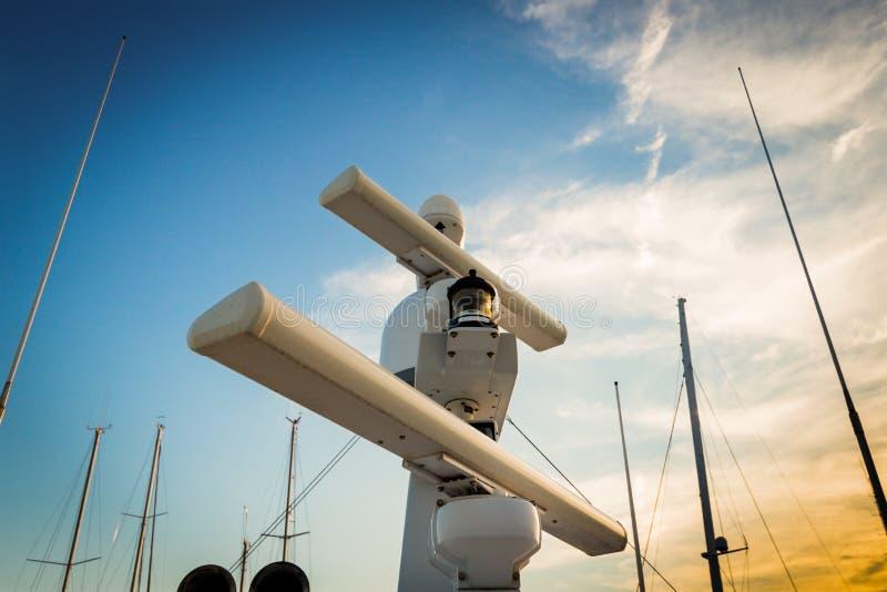 Yach de radar photographie stock