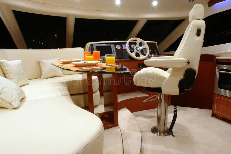 Yacht-1. Interior of yacht