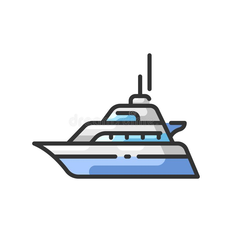 Yacht royaltyfri illustrationer