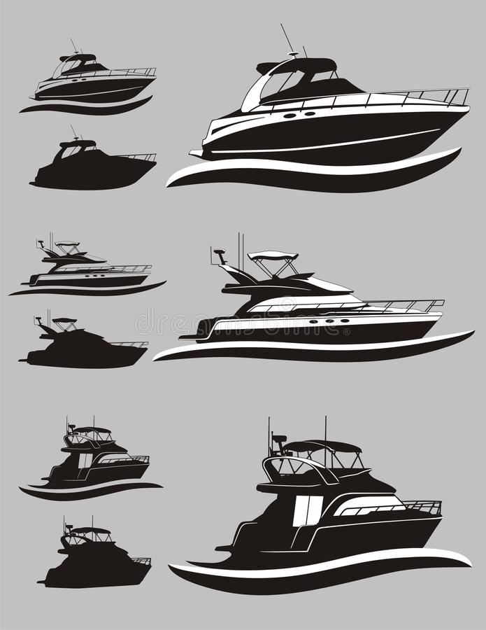 Yacht illustration stock