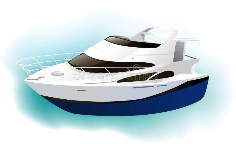 Yacht illustration stock