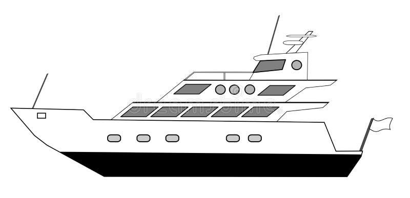 Yacht illustration de vecteur