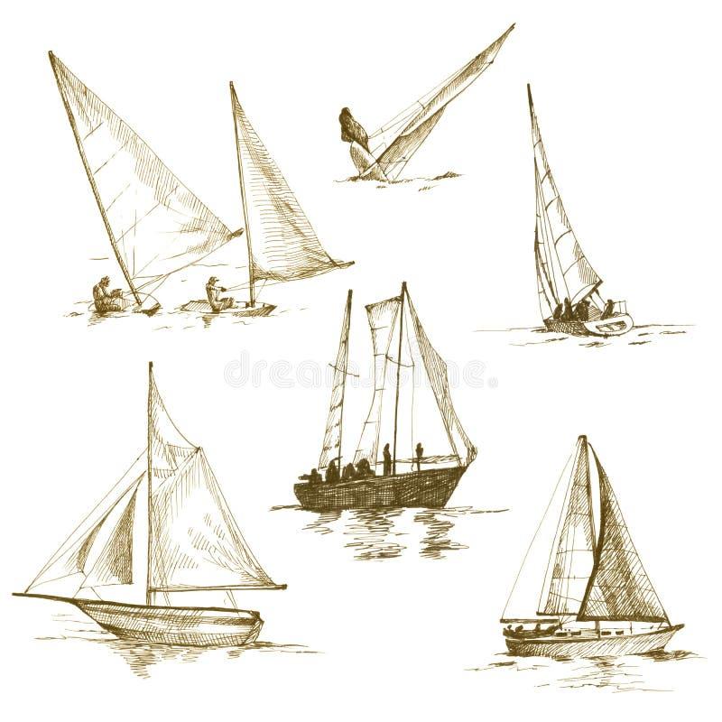 Yacht illustrazione vettoriale