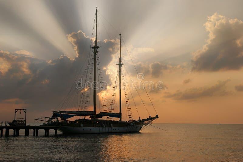 Download Yacht stock image. Image of mooring, porus, keel, pier - 28568379
