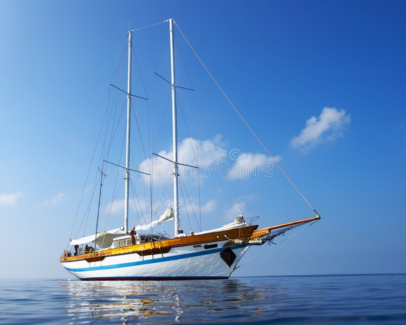 Download Yacht stock image. Image of mediterranean, team, cruise - 4610405