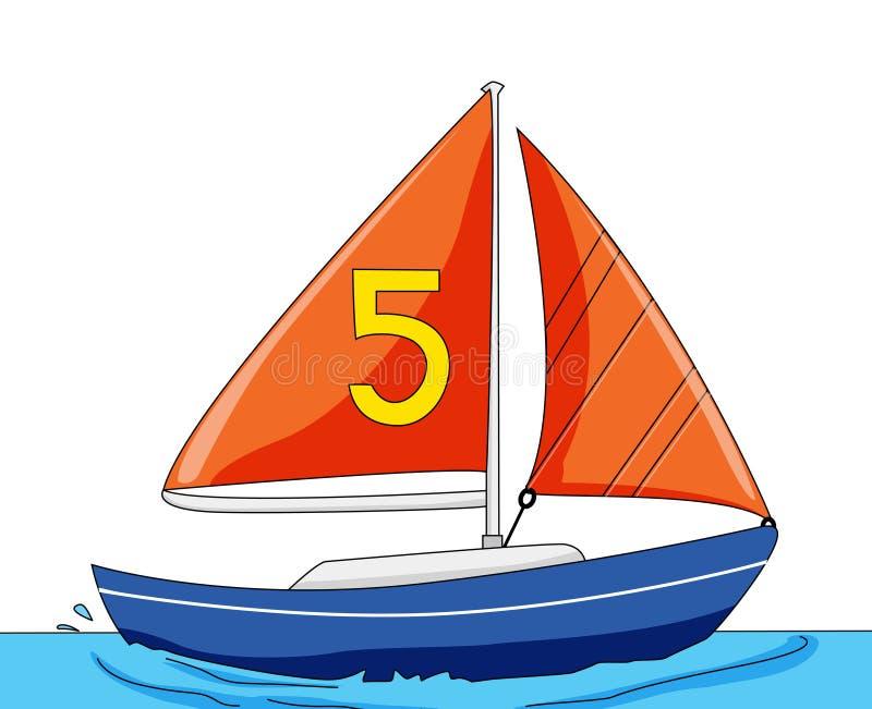 Yacht stock illustration