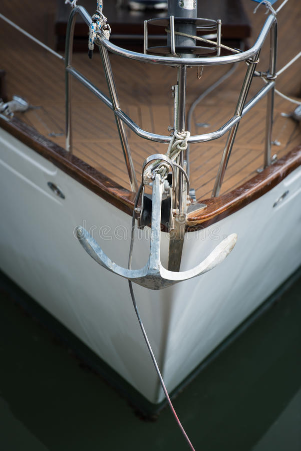 Download Yacht and anchor stock image. Image of yachting, port - 31568017