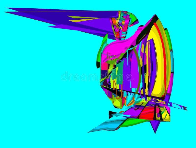 Yacht astratto libero immagine stock