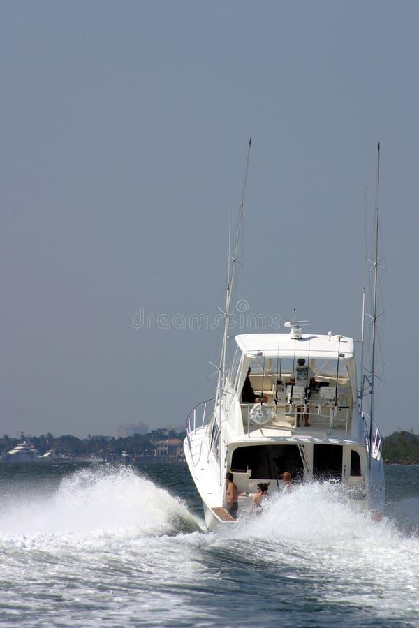 Yacht attaché II de famille d'océan photographie stock libre de droits