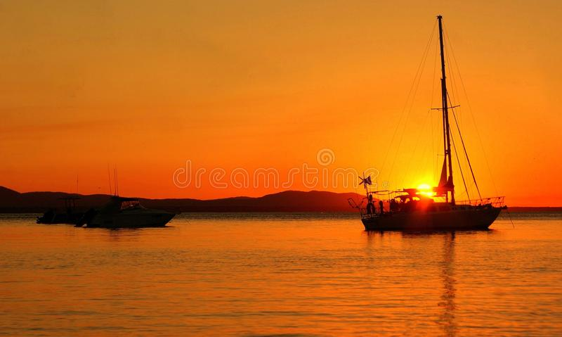 Sunset in the Bay royalty free stock photo
