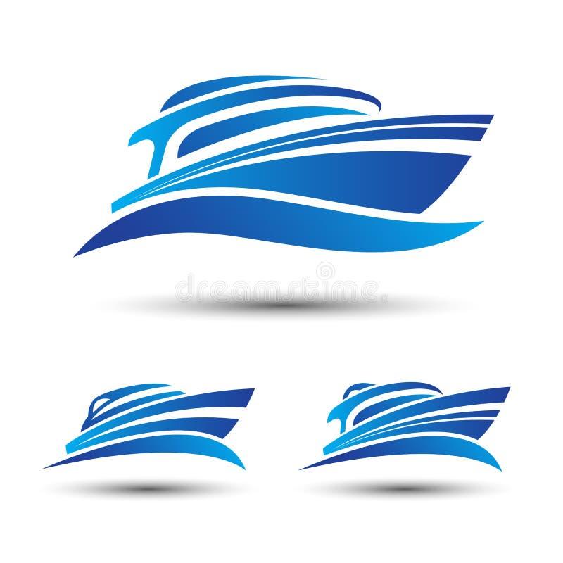 Yacht boat royalty free illustration