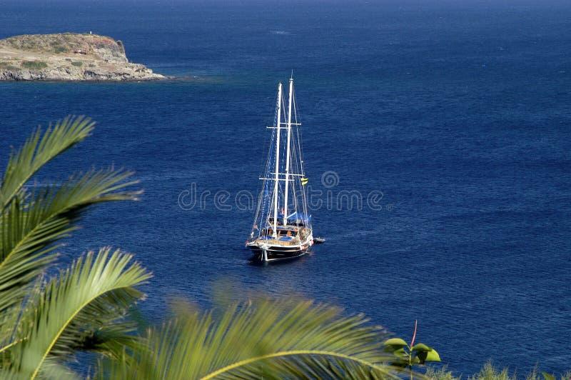 Yacht - Bodrum Turkey stock photo
