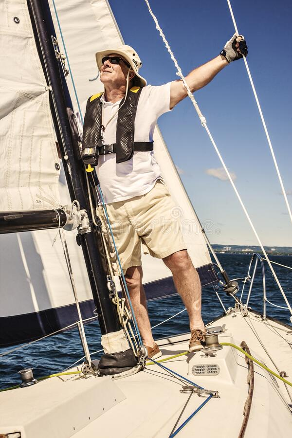 Free Yacht Captain Does Not Age. Stock Image - 171803891