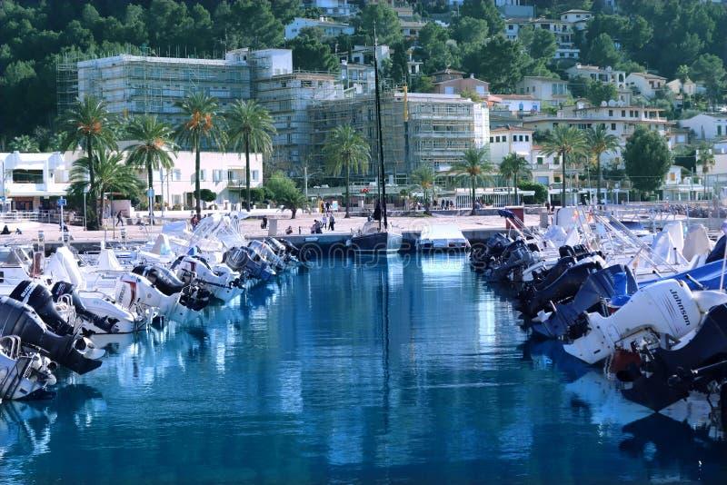 Yacht City = Spain royalty free stock photography
