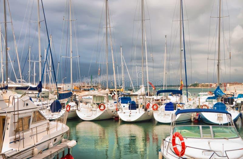 Yacht Club. On the coast royalty free stock image