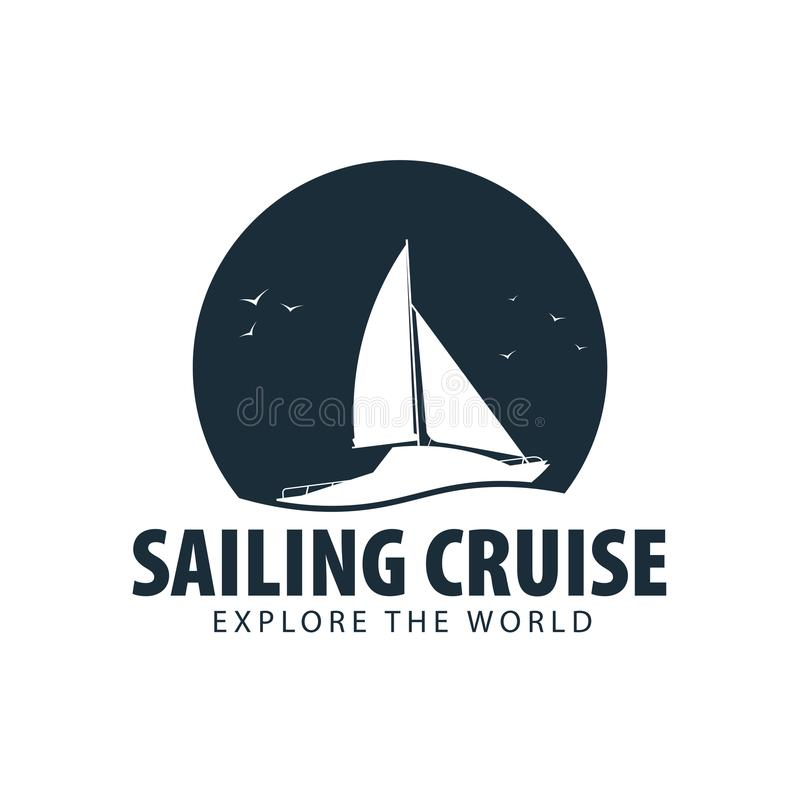 Free Yacht Club And Sailing Sport Logo, Labels, Emblems And Design Elements. Sea Travel. Vector Illustration. Stock Images - 111118514