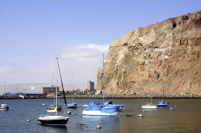 Yacht club Arica, Cile immagine stock