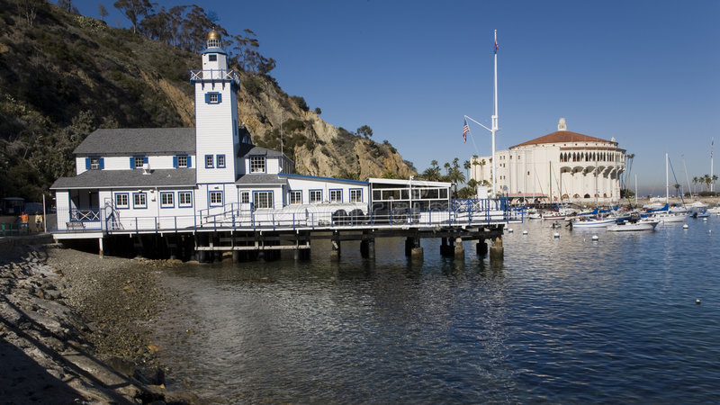 Yacht club and casino. Catalina island yacht club and casino stock images