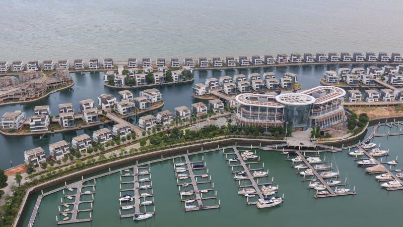 Yacht club de Xiangshan da estrada de Xiamen Huandao foto de stock royalty free
