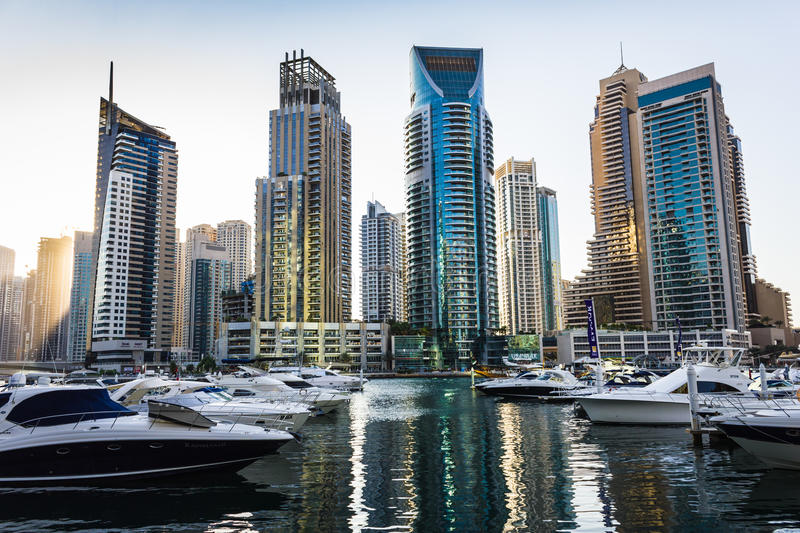 Yacht Club in Dubai Marina. UAE. November 16, 2012 stock image