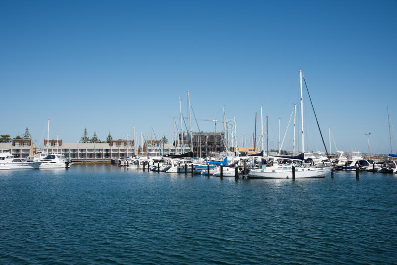 Yacht club e porto: Fremantle, Austrália Ocidental imagem de stock royalty free