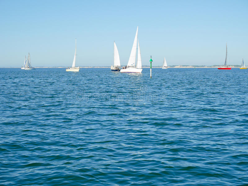 Yacht a competência imagem de stock royalty free