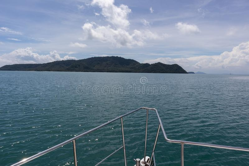 Yacht cruise sunny day at ao chalong Phuket, Thailand. Yacht cruise on sunny day at ao chalong Phuket, Thailand royalty free stock photography