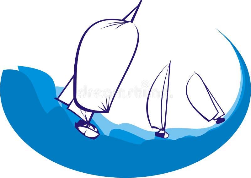 Yacht das Laufen vektor abbildung