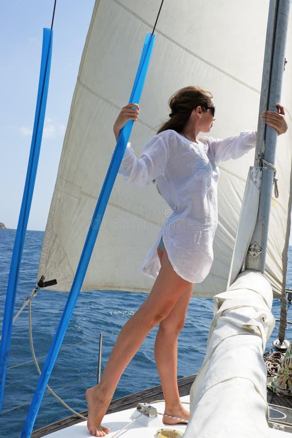 yacht de fille photos libres de droits
