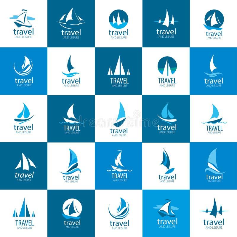 Yacht de logo de vecteur illustration de vecteur