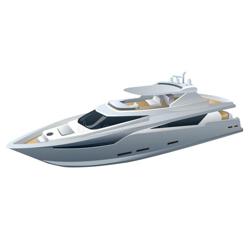 Yacht de luxe de vitesse illustration libre de droits