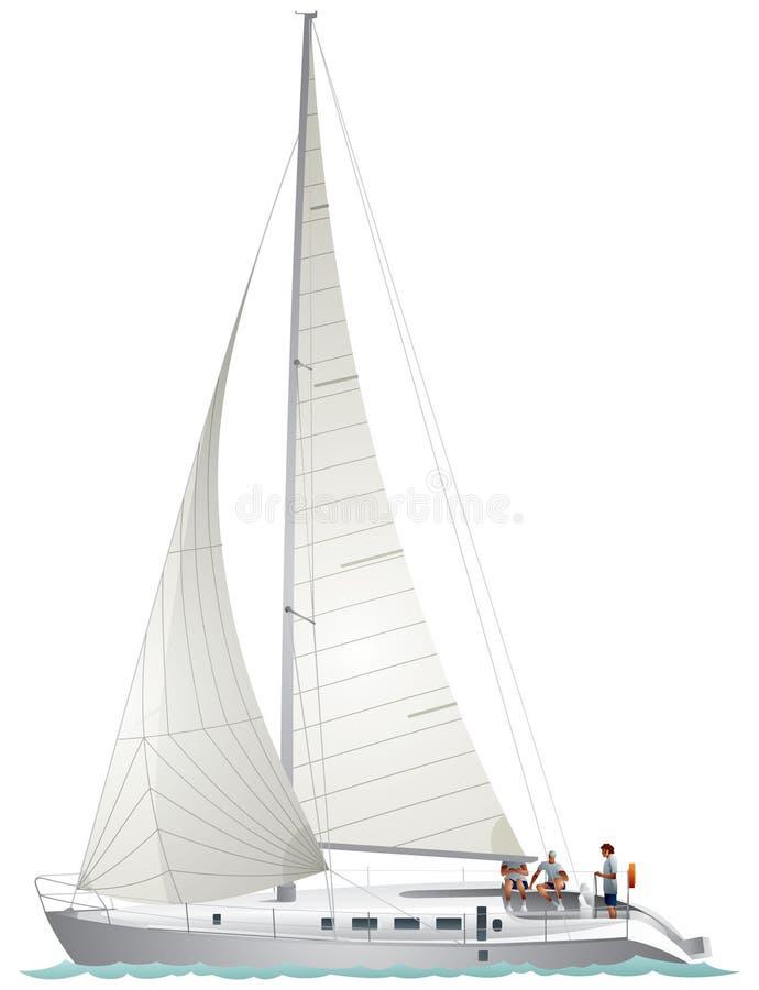 Yacht de navigation illustration libre de droits