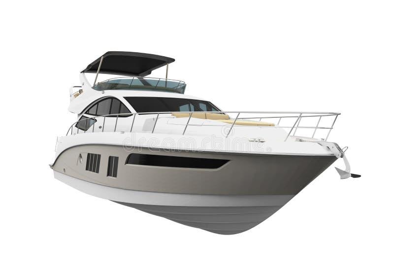 Yacht de plaisir blanc illustration stock