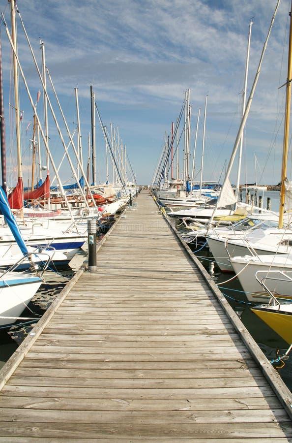 Yacht de port photo libre de droits