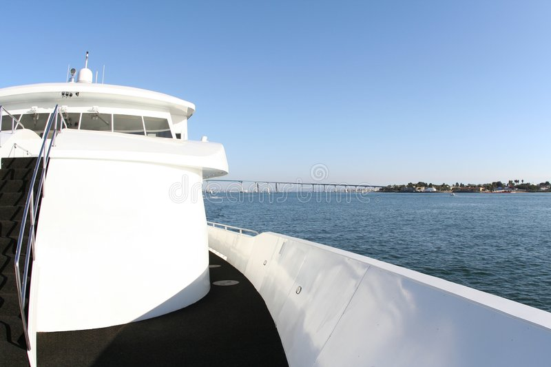 Yacht deck royalty free stock photography