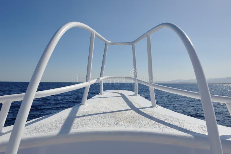 Yacht deck elements stock images