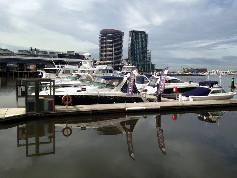 Yacht dei Docklands fotografia stock