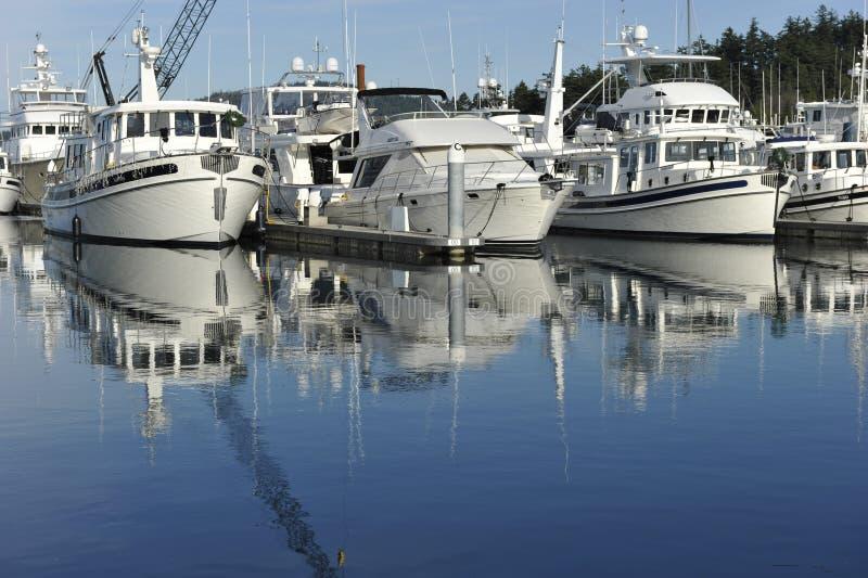 Yacht del motore fotografie stock