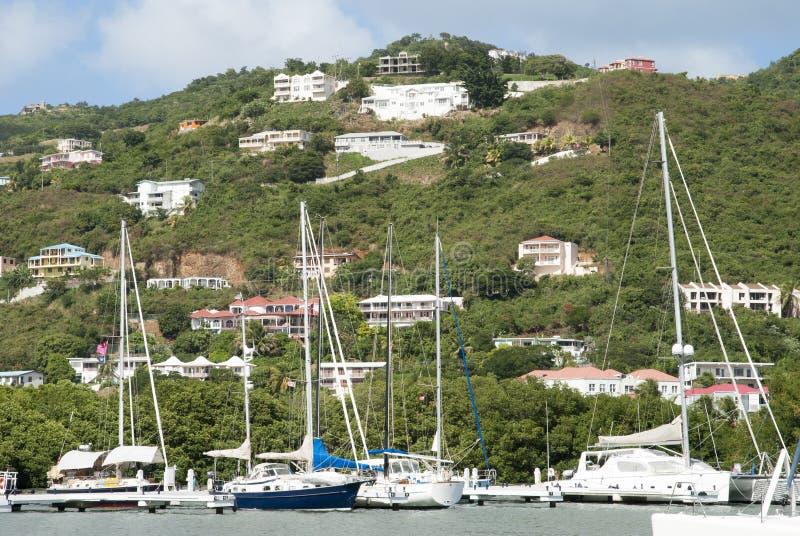 Yacht dell'isola di Tortola fotografia stock libera da diritti