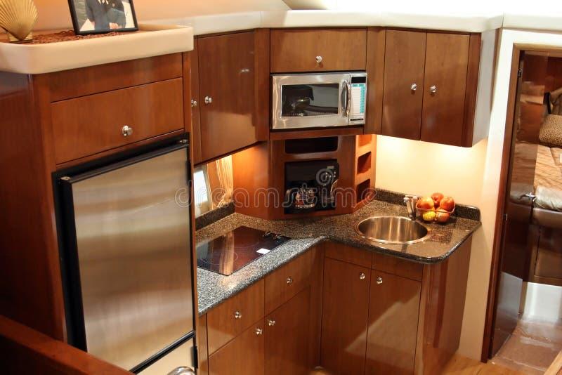 yacht della cucina immagini stock libere da diritti