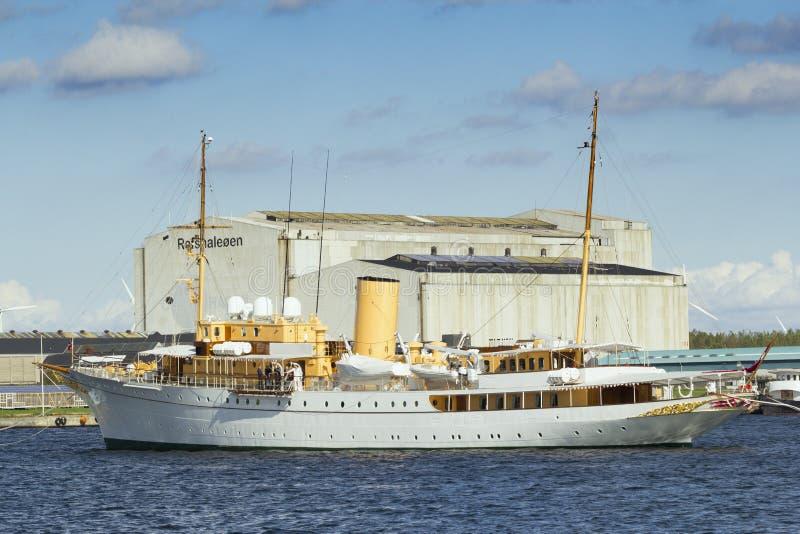 Yacht della regina danese immagine stock