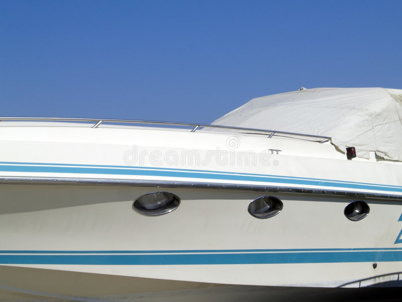 Yacht detail stock photography