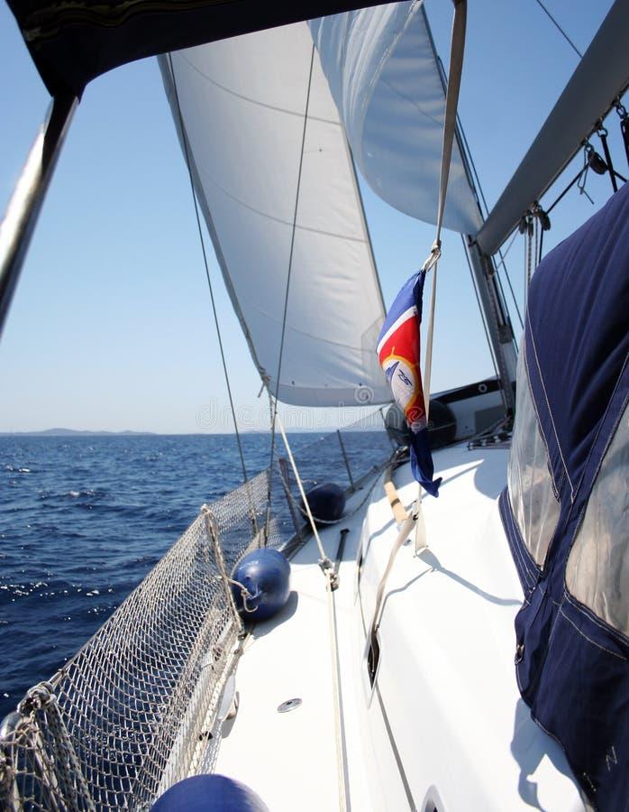 Yacht di Sailling immagine stock libera da diritti