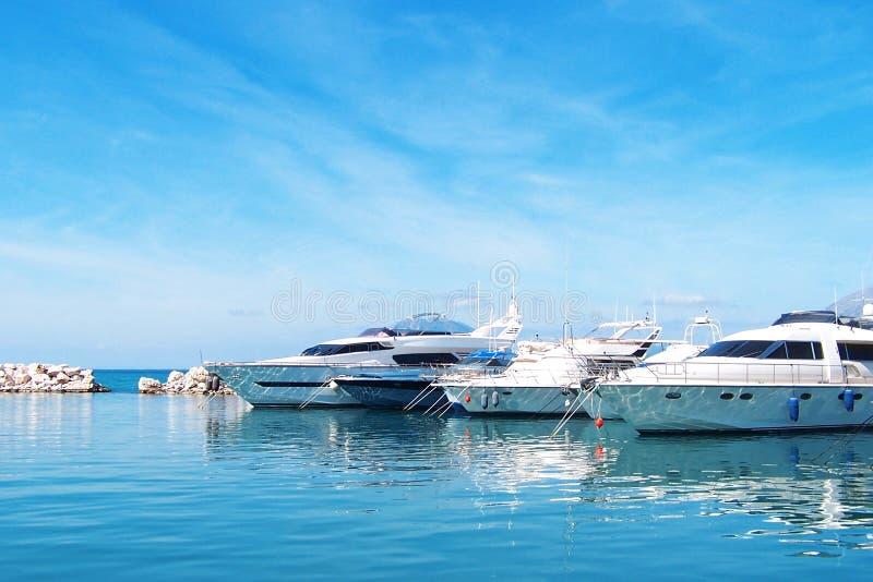 Yacht dock royalty free stock photo