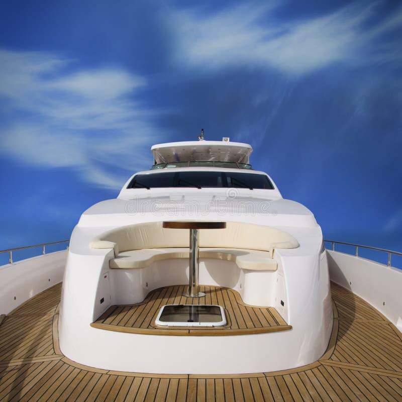 yacht för bakre sikt arkivfoto
