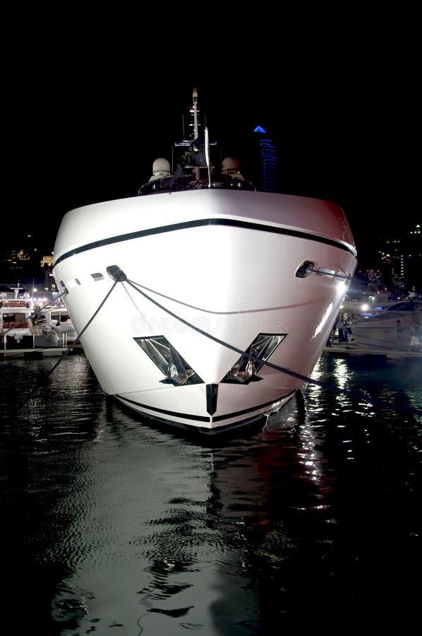 yacht för nattsökaresun royaltyfri foto