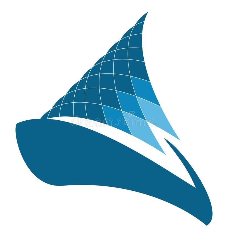 yacht för designlogosegling vektor illustrationer