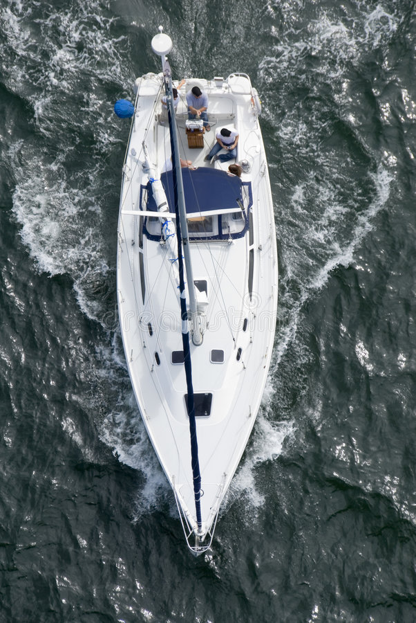 Free Yacht From Above Stock Image - 3315501