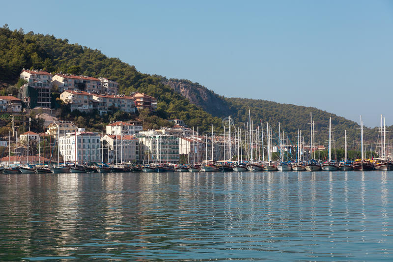 Yacht Harbor, Fethiye, Turkey Editorial Photo
