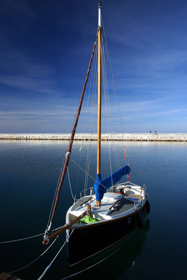Download Yacht in Harbour stock image. Image of yacht, anchor, latchi - 7240405